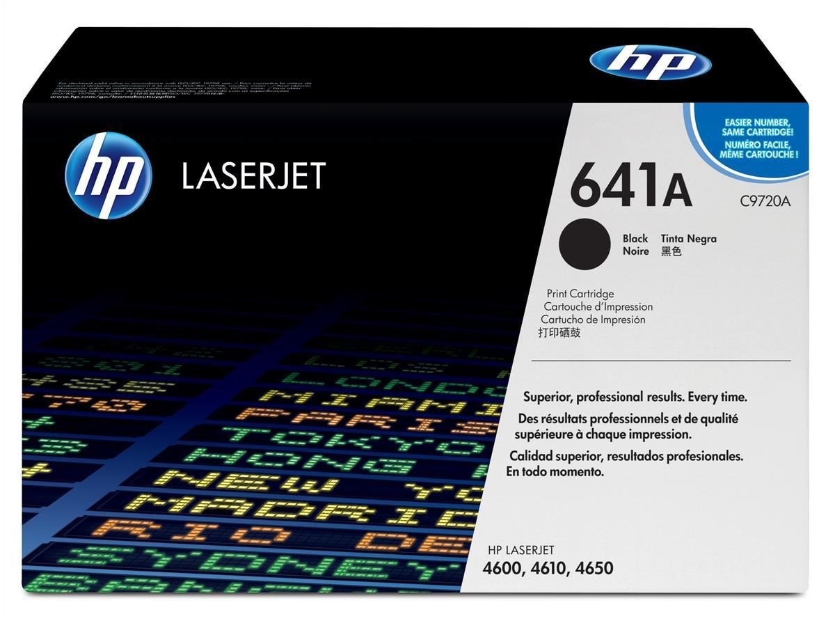 HP 641A Black Laser Toner Cartridge C9720A