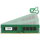 Crucial 32GB Memory Kit (4x8GB) PC4-17000 2133MHz DDR4 Unbuffered Non-ECC CL15 288-pin DIMM (Dual Ranked)