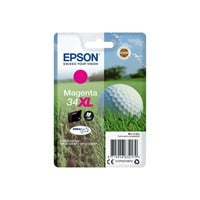 Epson Golf Ball 34XL T3473 (Yield 950 pages) DURABrite Ultra Magenta 10.8ml Ink Cartridge