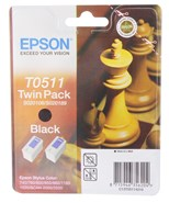 Epson T0511 Black Ink Cartridge Twin Pack
