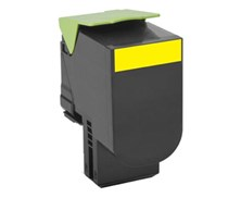 Lexmark 802Y (Yellow) Return Program Toner Cartridge (Yield 1000 Pages)