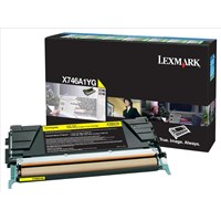 Lexmark Return Program (Yellow) Toner Cartridge (Yield: 7000 Pages) for X746/X748 Printers