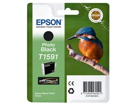 Epson Kingfisher T1591 UltraChrome Hi-Gloss2 Black Ink Cartridge