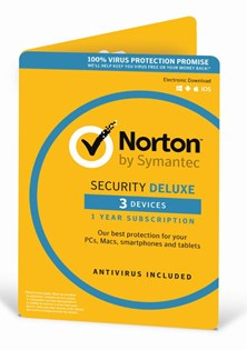 Symantec Norton Security Deluxe (3.0) - 1 User (3 Devices) for 12 Months - Security Software (DVD)