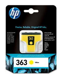 HP 363 (Yield: 500 Pages) Yellow Ink Cartridge
