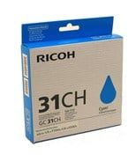 Ricoh GC31CH (Yield 4,890 Pages) Gel Ink Cartridge (Cyan)