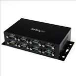 StarTech.com 8 Port USB to DB9 RS232 Serial Adapter Hub (Rail/Wall Mountable)