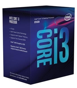Intel Core i3 8100 3.6GHz Quad Core CPU