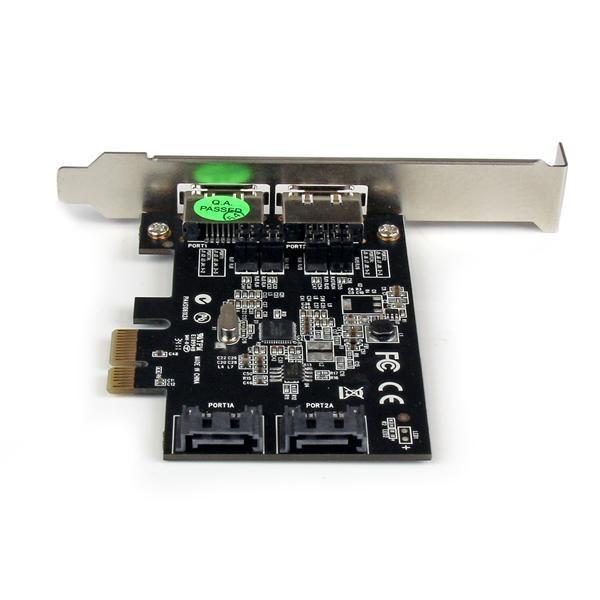 StarTech.com 2 Port PCI Express SATA 6 Gbps eSATA Controller Card ...