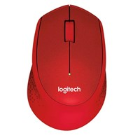 Logitech M330 Silent Plus Wireless Mice (Red) - Retail