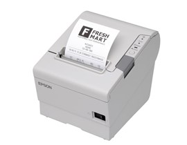 Epson TM-T88V (813) Thermal Line Receipt Printer 300mm/sec Print Speed 180dpi Parallel Power Supply EU Cable (Epson Cool White)
