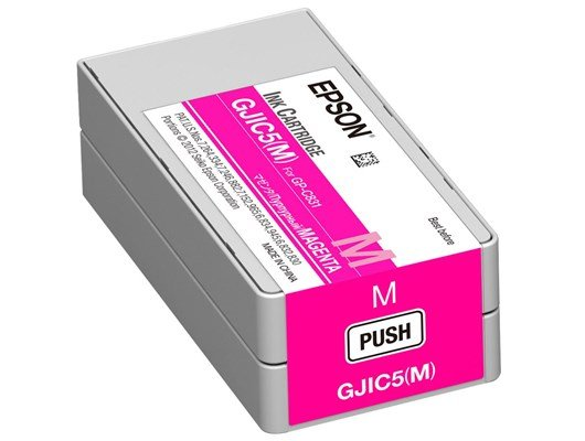 Epson GJIC5(M) Magenta Ink Cartridge (32.5ml) for GP-C831 Colour Inkjet Label Printer