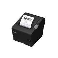 Epson TM-T88VI (111A0) Thermal Line Receipt Printer 300mm/sec Print Speed 180dpi 4KB USB/Ethernet AC Adaptor UK Cable (Black) *Open Box*