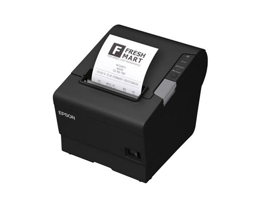 Epson TM-T88V-i (551A0) Thermal Line Intelligent Receipt Printer 300mm/sec Print Speed 180dpi 4KB Bluetooth USB/Ethernet AC Adaptor UK Cable Buzzer (Black)