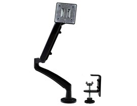 StarTech.com Slim Articulating Monitor Arm with Cable Management, Grommet or Desk Mount
