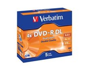 Verbatim DVD-R 8.5GB 4x Dual Layer Jewel Case
