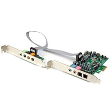 StarTech.com 7.1 Channel Sound Card - PCI Express, 24-bit, 192KHz