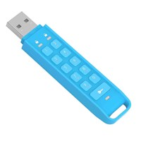 iStorage datAshur 32GB USB 2.0 Flash Stick Pen Memory Drive - Blue