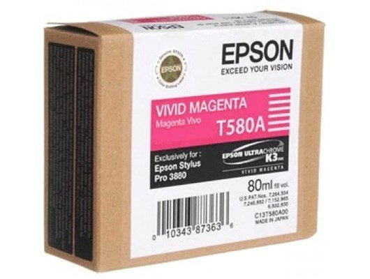 Epson T580A High Capacity Ink Cartridge - 80 ml (Vivid Magenta)