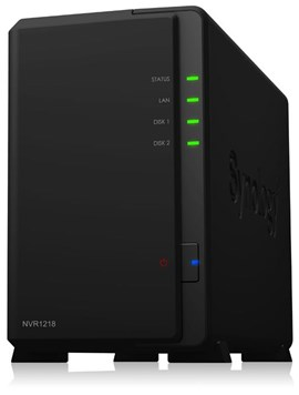 Synology NVR1218 (12 Channel) Network Video Recorder Dual Core (1.0GHz) 1GB DDR3 0 HDD (Black)