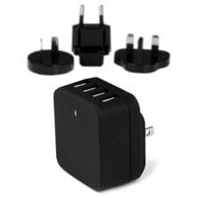 StarTech.com 4-Port USB Wall Charger - International Travel 34W/6.8A (Black)
