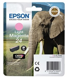 Epson Elephant 24 (non-Tagged) Ink Cartridge (Light Magenta)