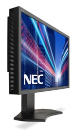 NEC Displays MultiSync P242W (24 inch) IPS Monitor 1000:1 350cd/m2 1920x1200 8ms DisplayPort/HDMI/DVI-D (Black)