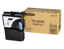 Kyocera TK-825K Black Toner Cartridge for KM-C3225/KM-C4535E/KM-C3232/KM-C3232E Printers (Yield 15,000 Pages)