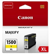 Canon PGI-1500XL (Yellow) Ink Cartridges (12ml/935 Pages)
