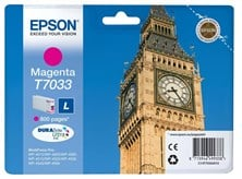 Epson T7033 (Yield 800 Pages) Magenta Standard Capacity Ink Cartridge