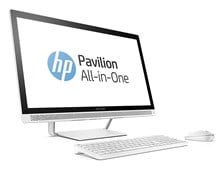 HP Pavilion 27-a230na (27 inch) All-in-One PC Core i3 (7100T) 3.4GHz 8GB 1TB DVD-Writer WLAN BT Webcam Windows 10 Home 64-bit (White)