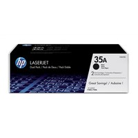 Bundle: HP 35A (Yield: 1,500 Pages) Black Toner Cartridge Pack of 2
