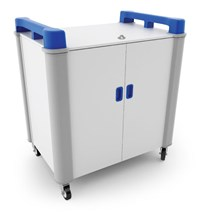 LapCabby (16 Device) Tablet Charging Cart (Blue)