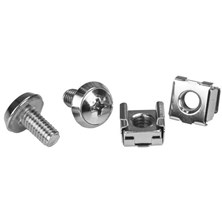 StarTech.com M6 Rack Screws and M6 Cage Nuts - 20 Pack