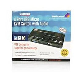 StarTech.com  SV411KUSB - KVM / audio switch - USB - 4 ports - 1 local user