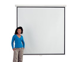 Metroplan Eyeline (2000mmx2000mm) Square 1:1 Presenter Wall Projection Screen (White)
