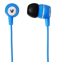 V7 Stereo Earbuds with Inline Microphone (Blue)