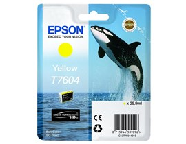 Epson T7604 (25.9ml) Yellow Ink Cartridge for SureColor SC-P600 Printer