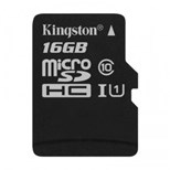 Kingston (16GB) microSDXC Class 10 UHS-I 45R Flash Card Single without Adapter