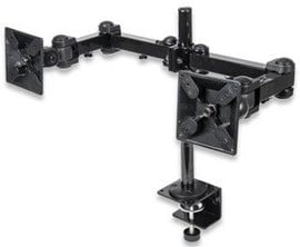 Manhattan LCD Dual Monitor Mount with Double-Link Swing Arms (Black)