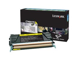 Lexmark Return Program C746A1YG (Yield: 7,000 Pages) Yellow Toner Cartridge