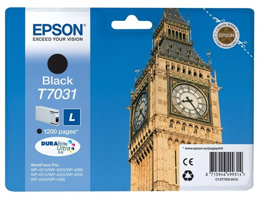 Epson T7031 (Yield 1,200 Pages) Black Standard Capacity Ink Cartridge