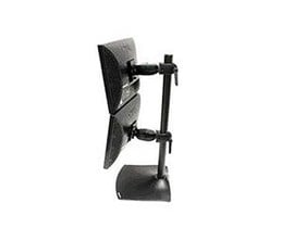 Ergotron DS100 Series DeskStand 100 Dual Monitor Clamping Double Pivots (Black)
