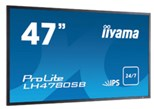 Iiyama ProLite LH4780SB (47 inch) LED Backlit LCD Display 1300:1 700cd/m2 (1920x1080) 12ms D-Sub/DVI-D/HDMI/DisplayPort (Black)