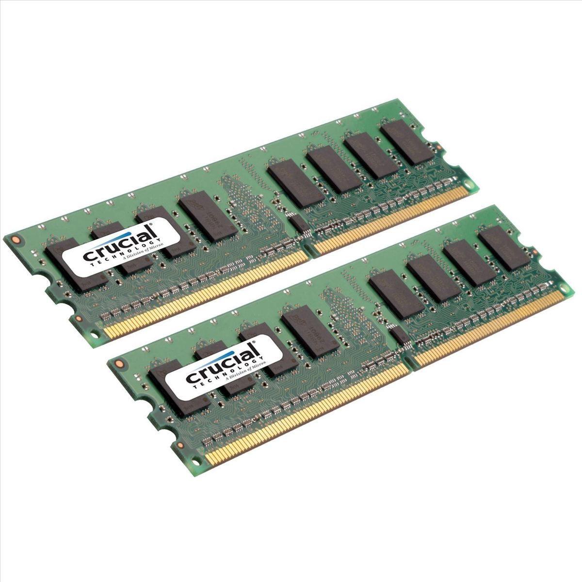 Crucial 4gb 2x 2gb 800mhz Ddr2 Ram Ct2kit25664aa800 Ccl Computers Memori Pc 1gb Pc2 6400 Kingston