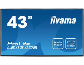 iiyama ProLite LE4340S (43 inch) LED Backlit LCD Display 3000:1 350cd/m2 (1920x1080) 8ms VGA/DVI/HDMI (Black)