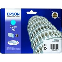 Epson Tower of Pisa 79 (Yield: 800 Pages) DURABrite Cyan Ink Cartridge