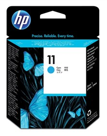 HP 11 Long-life Cyan Printhead Cartridge (Yield 24,000 Pages)