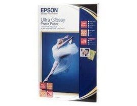 Epson (10 x 15cm) Ultra Glossy Photo Paper (20 Sheets) 300gsm (White)