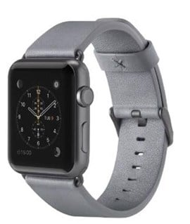 Belkin Classic Leather Band (Grey) for (38mm) Apple Watch